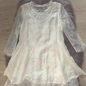Dresses & Skirts - White lace dress NWOT